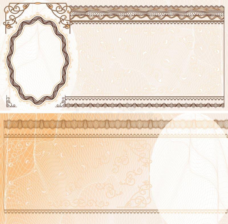 Disposição em branco da nota de banco ilustração royalty free