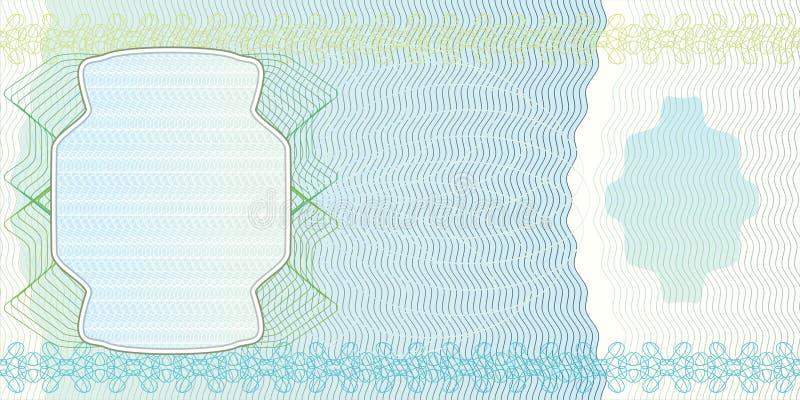 Disposição em branco da nota de banco ilustração stock