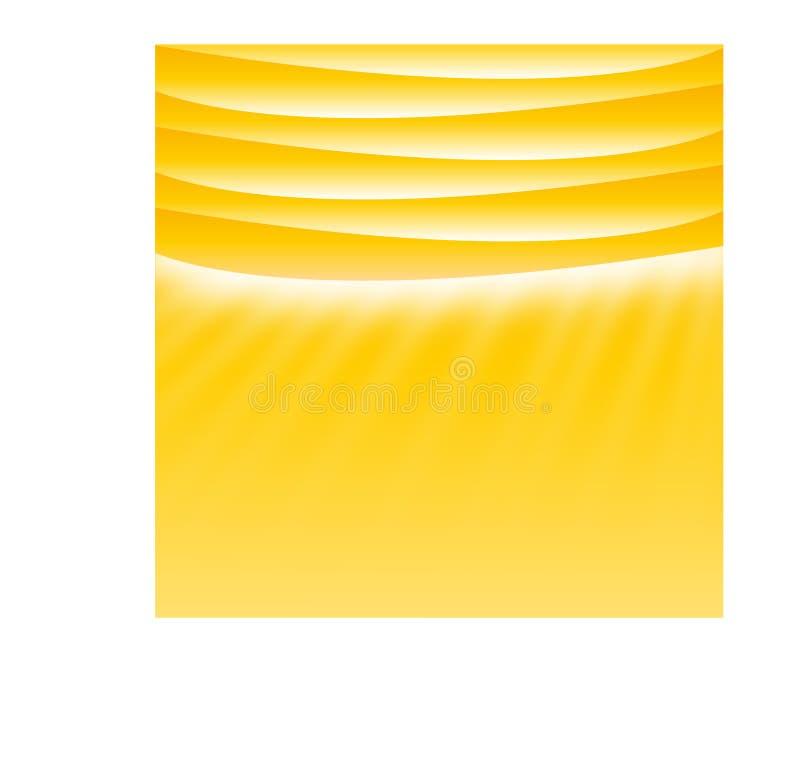 Disposição ensolarada amarela do molde com lugar para o texto imagem de stock