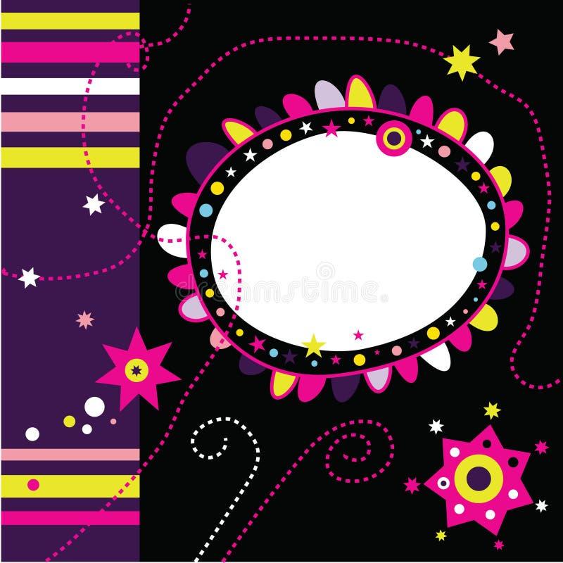 Disposição Funky 2 do Scrapbook ilustração royalty free