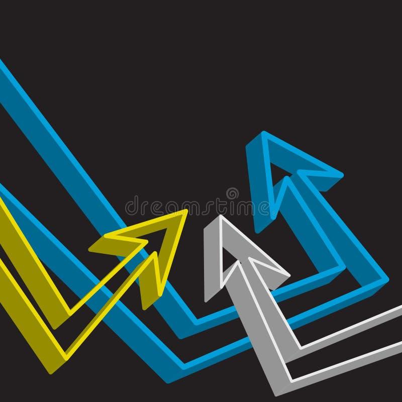 Disposição Funky das setas ilustração do vetor