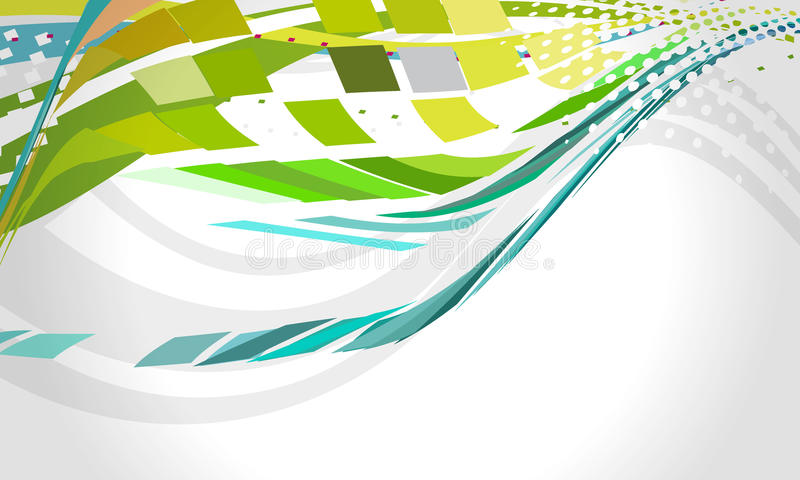 Disposição Multicolor da onda do mosaico, eps 10 ilustração royalty free