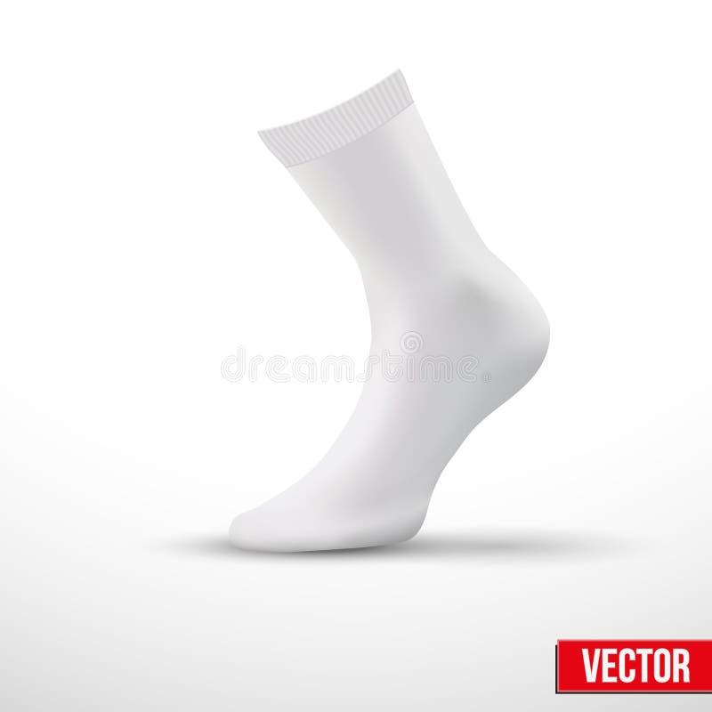 Disposição realística das peúgas brancas. Um exemplo simples. vetor ilustração stock