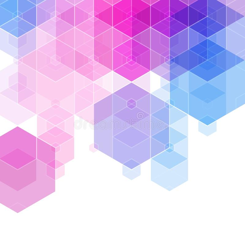 Disposição triangular para a apresentação, propaganda ilustração dos hexágonos Estilo poligonal Eps 10 ilustração royalty free