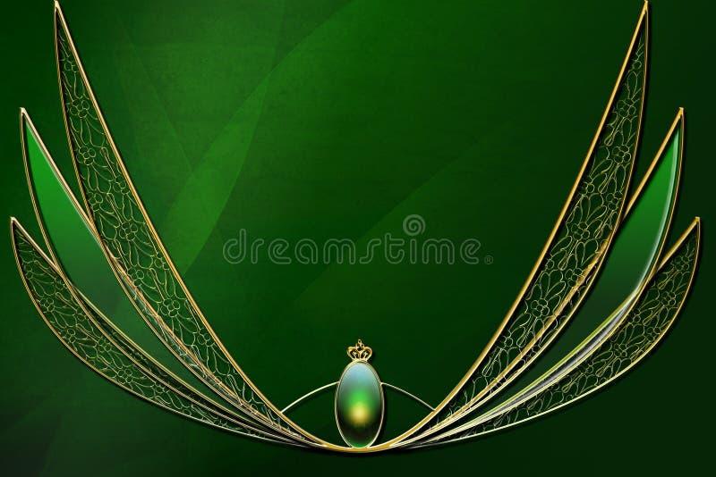 Disposição verde do fundo da fantasia ilustração royalty free