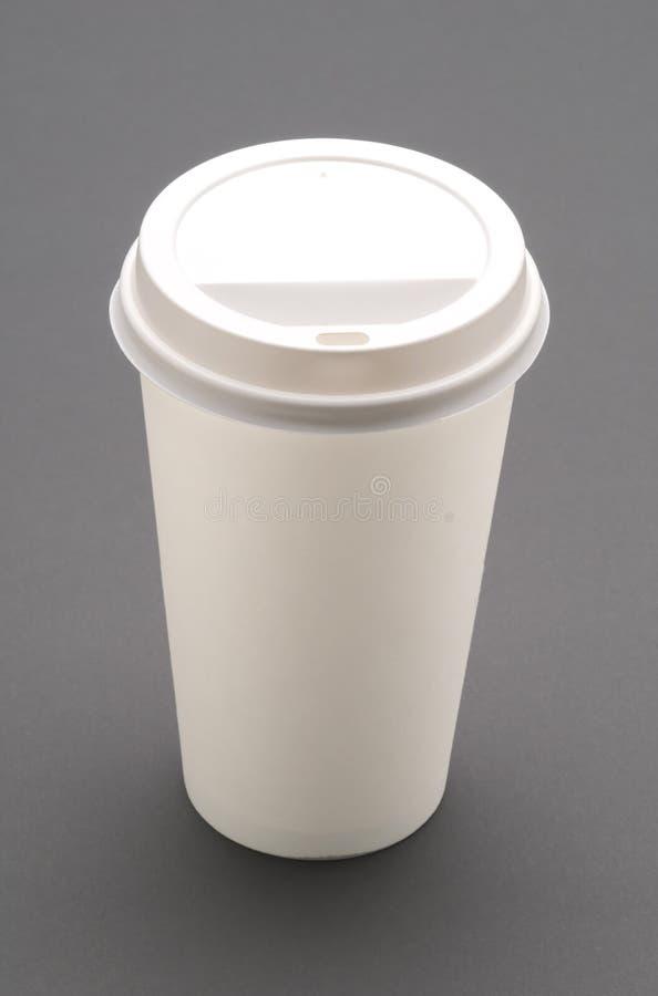 disposible的咖啡杯 库存图片