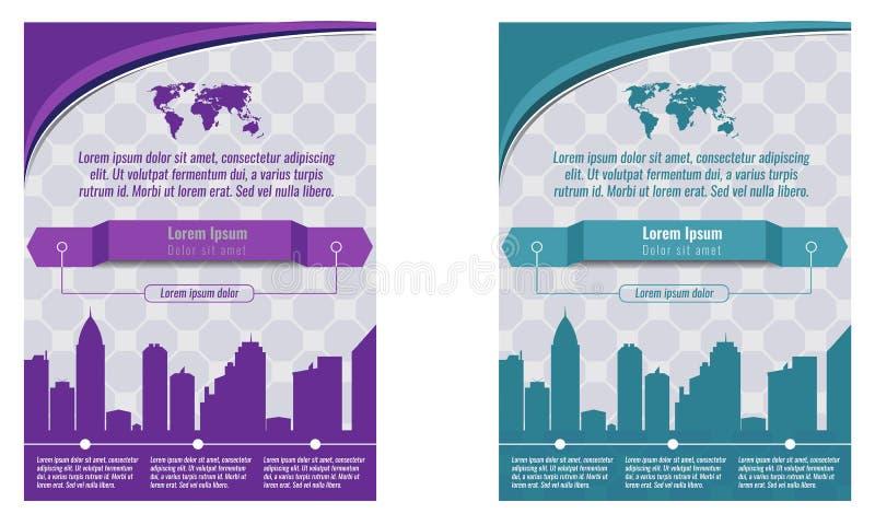 Disposición abstracta de la plantilla del diseño para la cubierta del folleto del aviador del folleto de la revista stock de ilustración