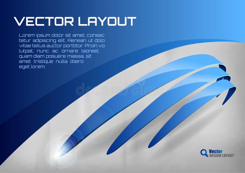 Disposición azul ilustración del vector