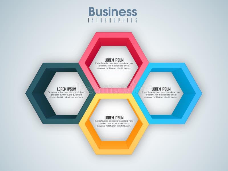 Disposición creativa de Infographic del negocio con los elementos stock de ilustración