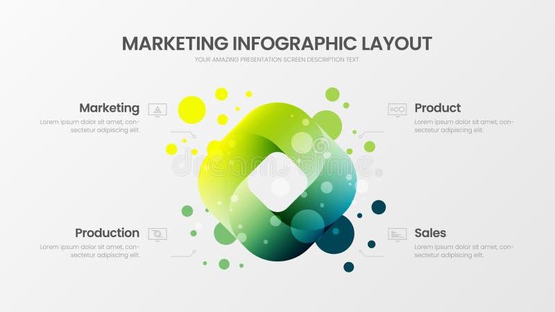 Disposición de diseño de datos de negocio  ilustración del vector