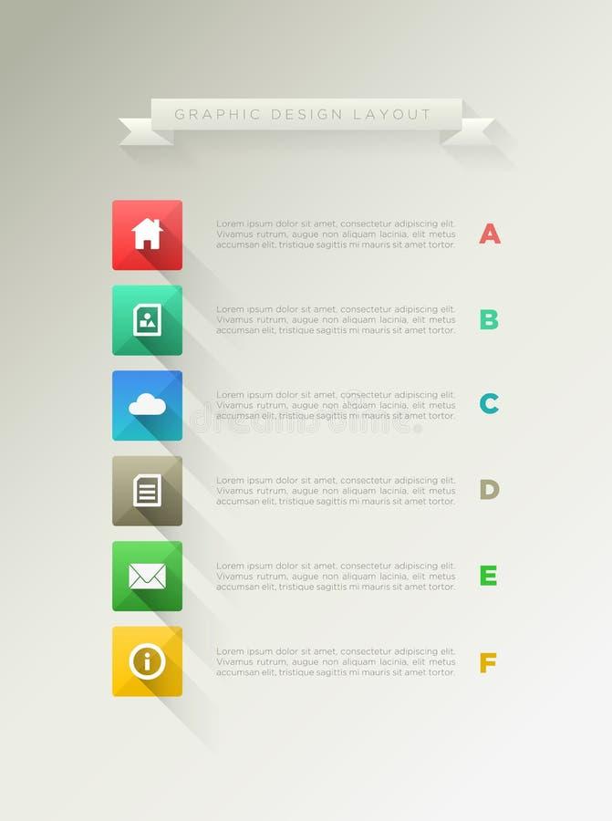 Disposición de diseño de la página stock de ilustración