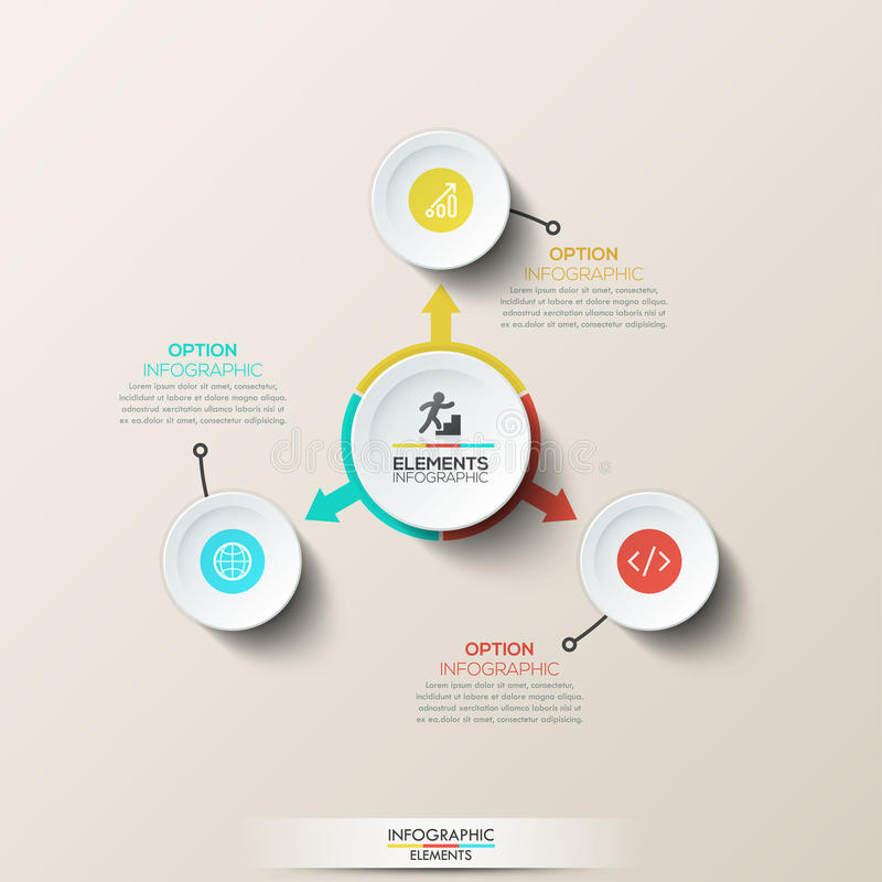 Disposición de diseño infographic creativa libre illustration