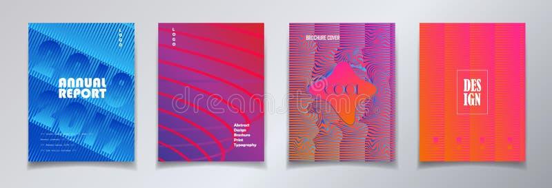 Disposición de diseño minimalista de la cubierta ilustración del vector