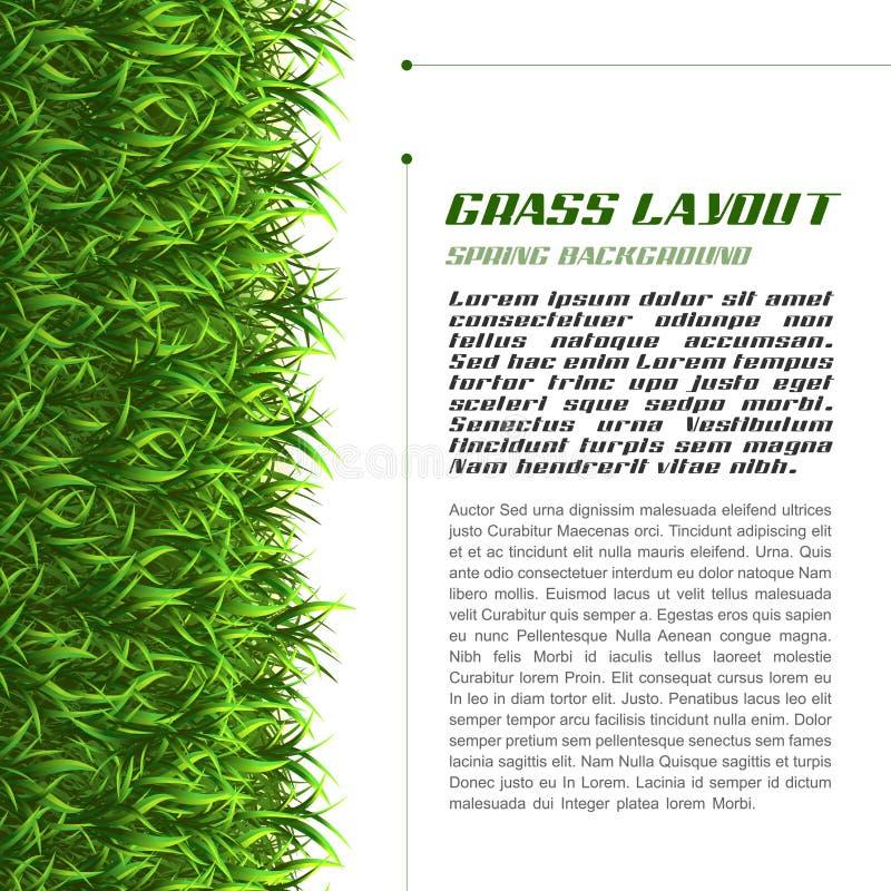 Disposición de la hierba ilustración del vector