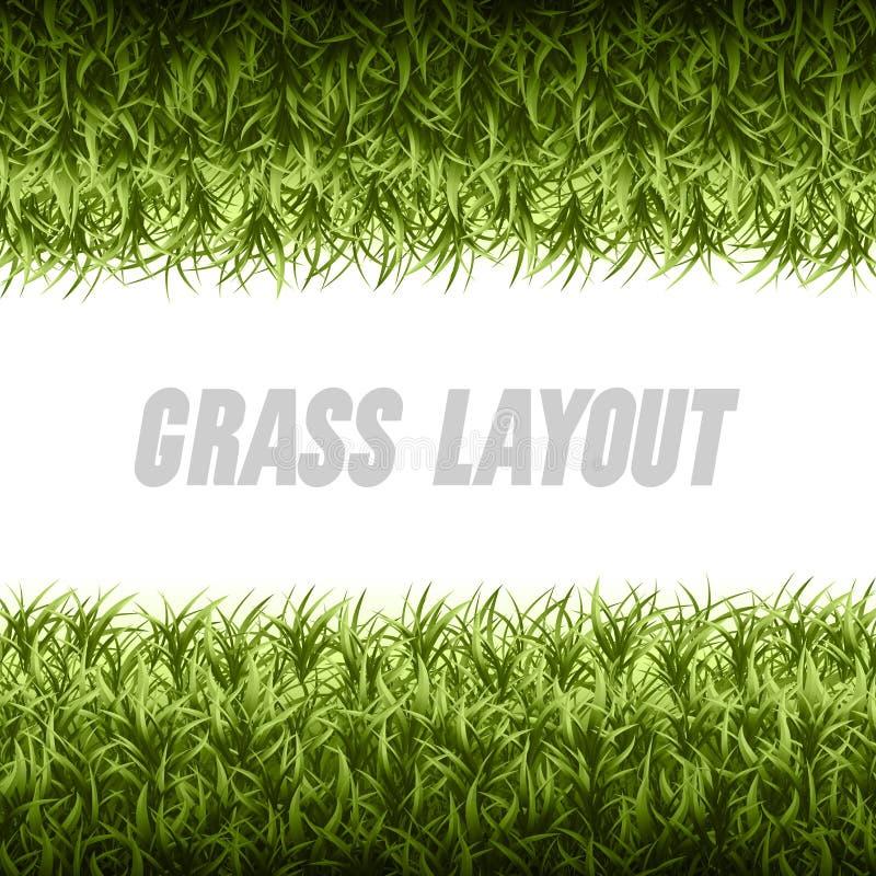 Disposición de la hierba libre illustration