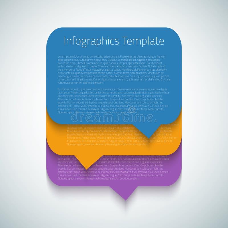 Disposición de la plantilla de la burbuja de la cronología de Infographic del web stock de ilustración