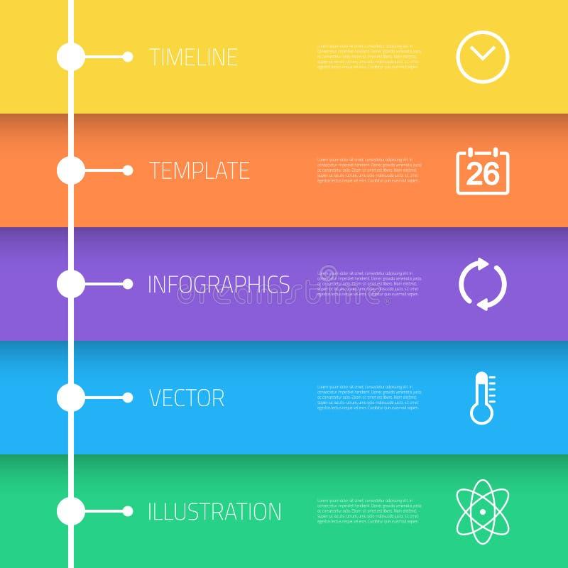 Disposición de la plantilla de la cronología de Infographic del web con libre illustration