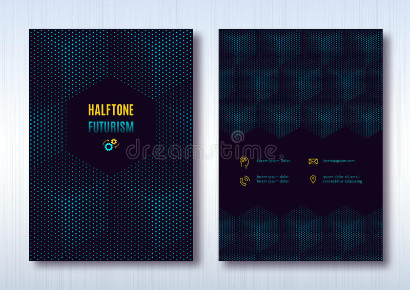 Disposición de la plantilla del folleto del negocio, diseño de la cubierta, fondo ligero del cubo libre illustration