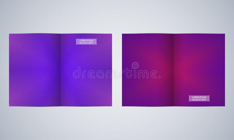 Disposición de la plantilla del folleto del doblez del BI, aviador, cubierta, informe anual, revista de tamaño A4 Extracto geomét ilustración del vector