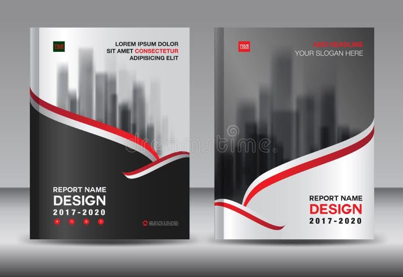 Disposición de la plantilla del folleto, informe anual del diseño negro de la cubierta stock de ilustración
