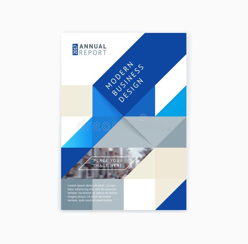 Disposición de la plantilla del folleto, informe anual del diseño de la cubierta, revista stock de ilustración