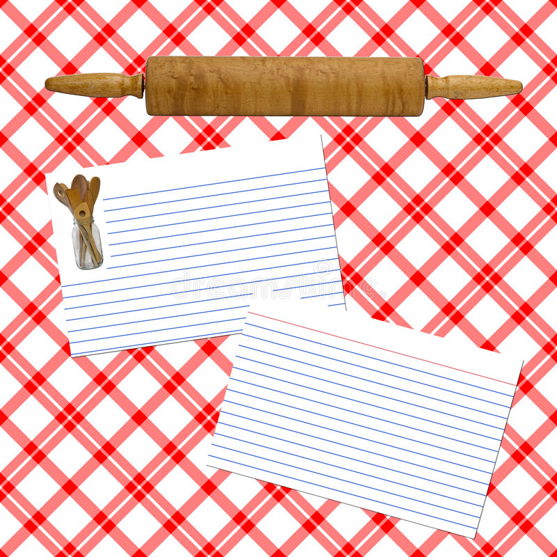 Disposición de la receta fotografía de archivo