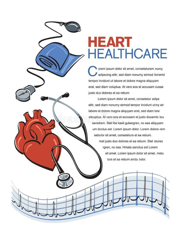 Disposición de la salud del corazón stock de ilustración