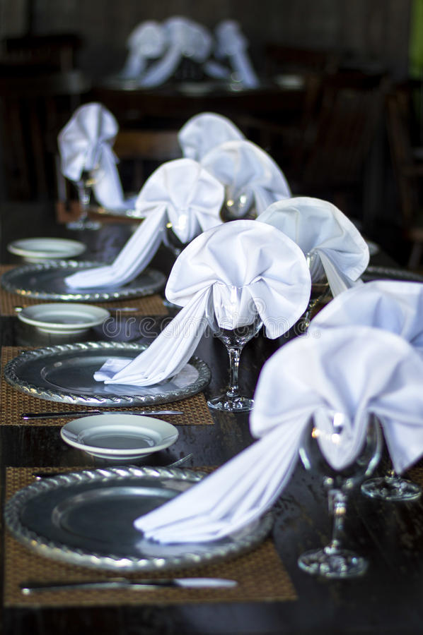 Disposición de la tabla de la boda fotografía de archivo