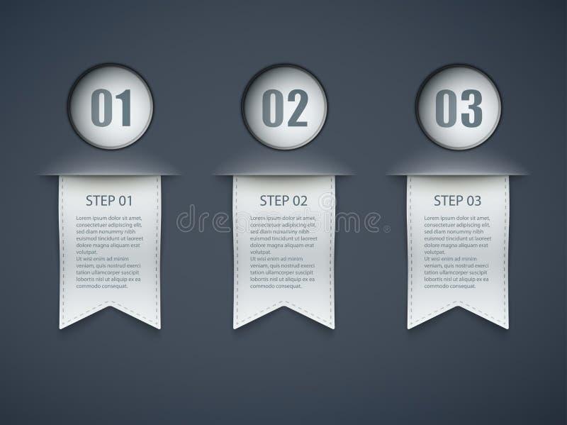 Disposición de las opciones de Infographic stock de ilustración