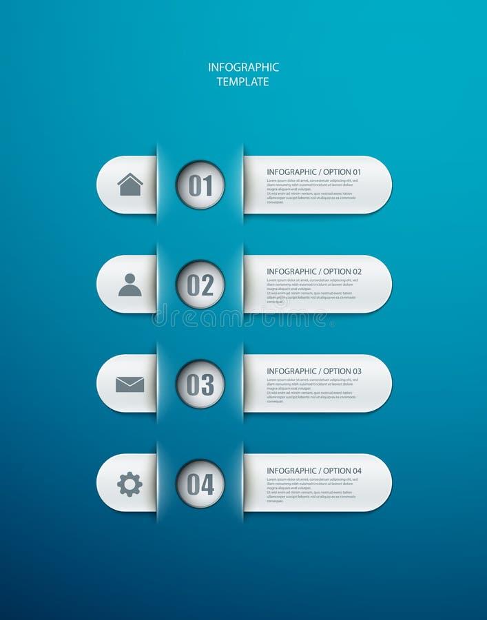 Disposición de las opciones de Infographics libre illustration