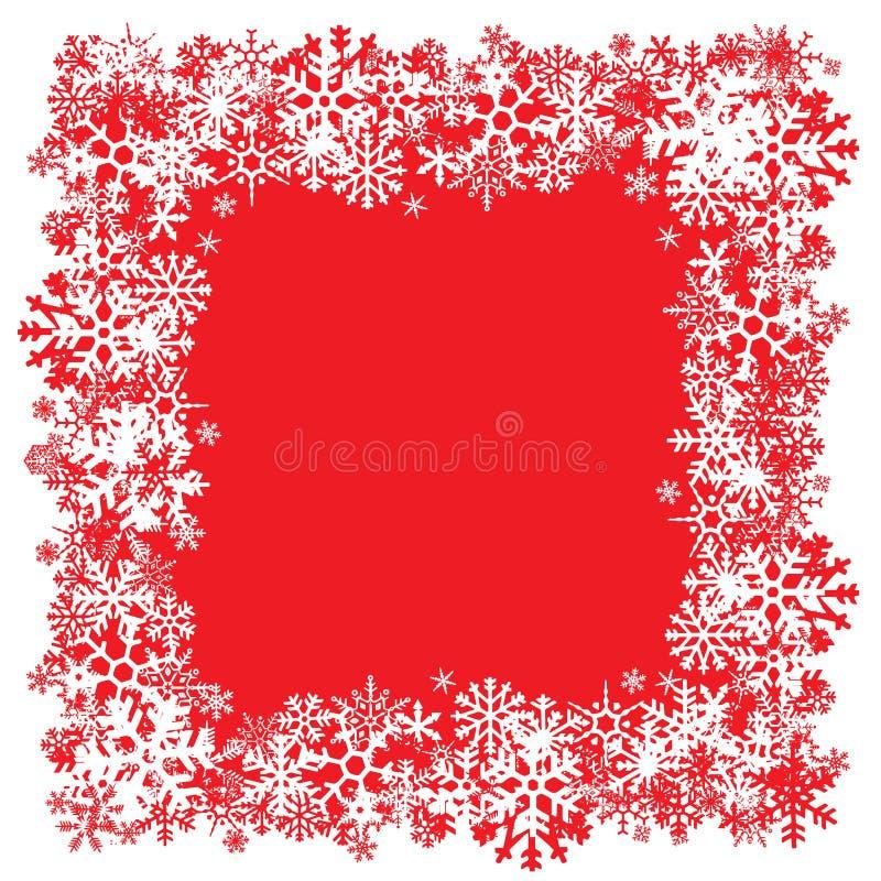 Disposición de los copos de nieve ilustración del vector