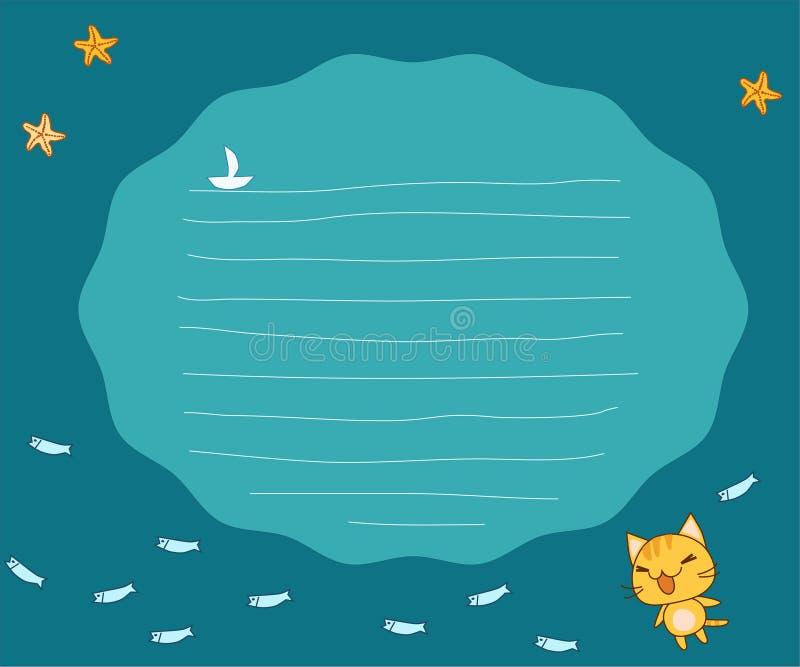 Disposición de paginación del cuaderno libre illustration