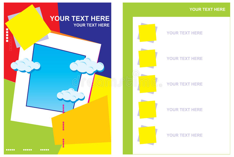 Disposición de paginación del librete ilustración del vector