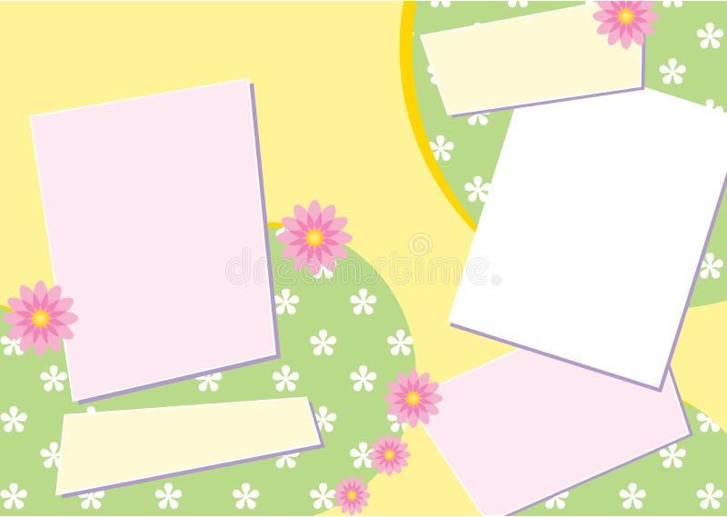 Disposición de paginación del libro de recuerdos stock de ilustración