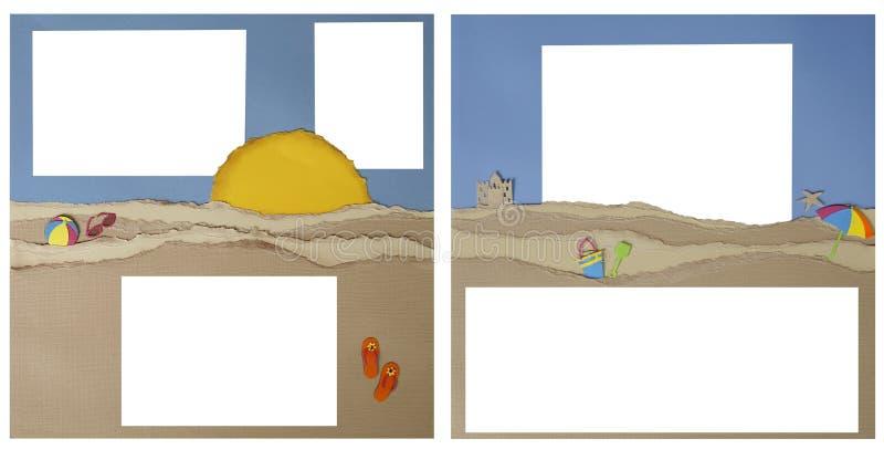 Disposición de paginación del libro de recuerdos de la playa ilustración del vector