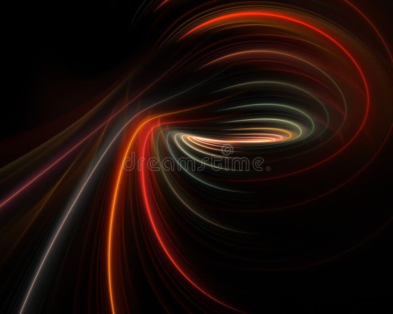 Disposición del abismo del fractal ilustración del vector