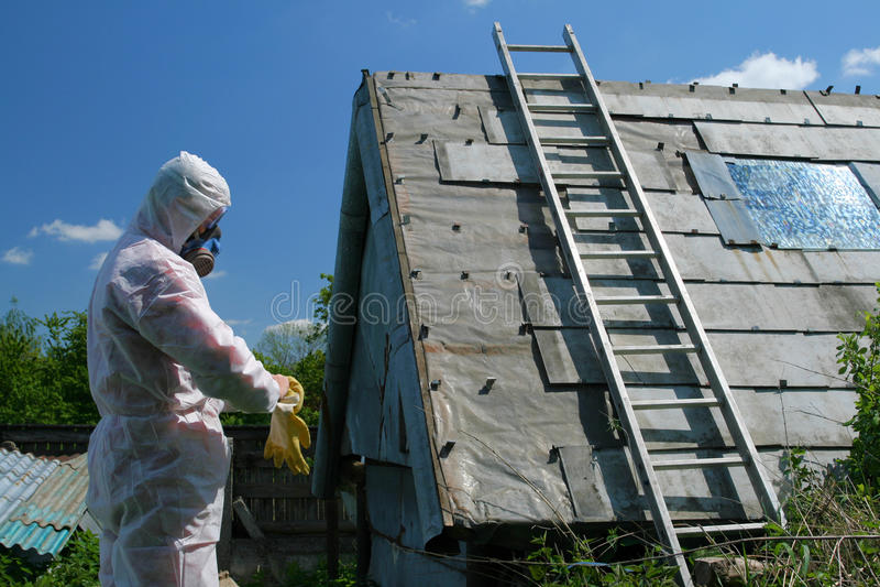 Disposición del asbesto fotos de archivo