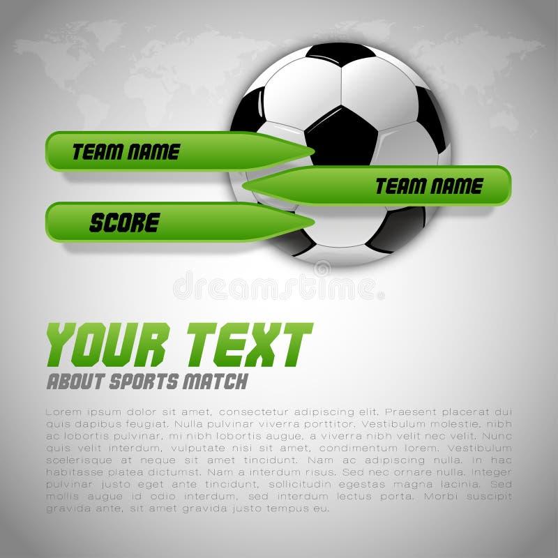 Disposición del fútbol stock de ilustración