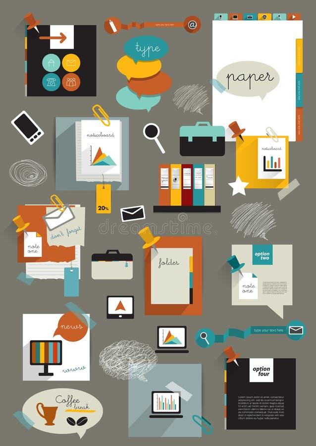 Disposición del web de la oficina del trabajo ilustración del vector