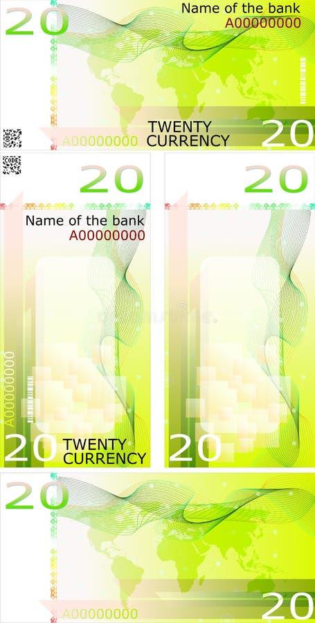 Disposición en blanco del billete de banco libre illustration