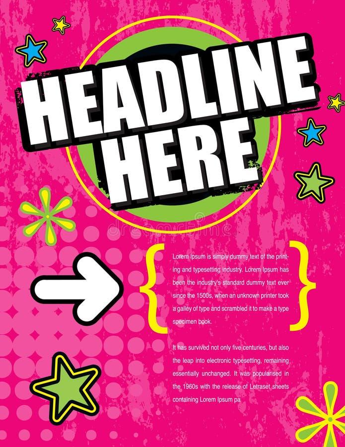 Disposición ideal rosada del anuncio libre illustration