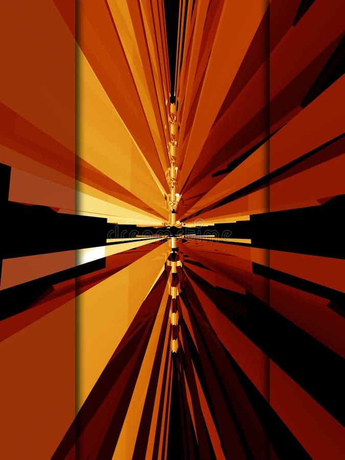 Disposición roja 3d ilustración del vector