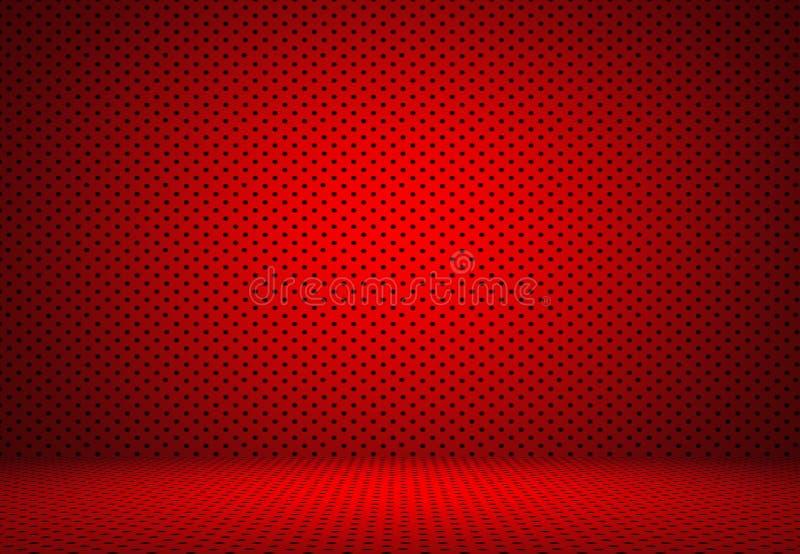 Disposición roja abstracta d de las tarjetas del día de San Valentín de la Navidad del fondo de los lunares libre illustration