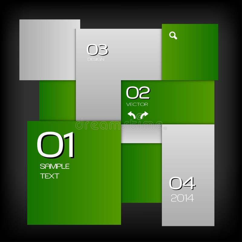 Disposición verde ilustración del vector