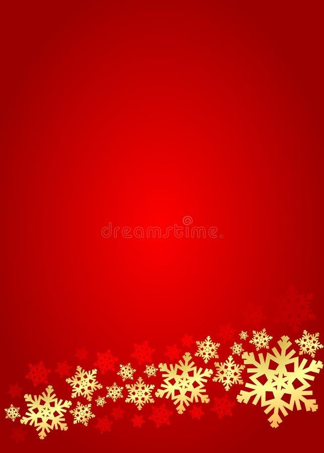 Disposición vertical roja con los copos de nieve libre illustration