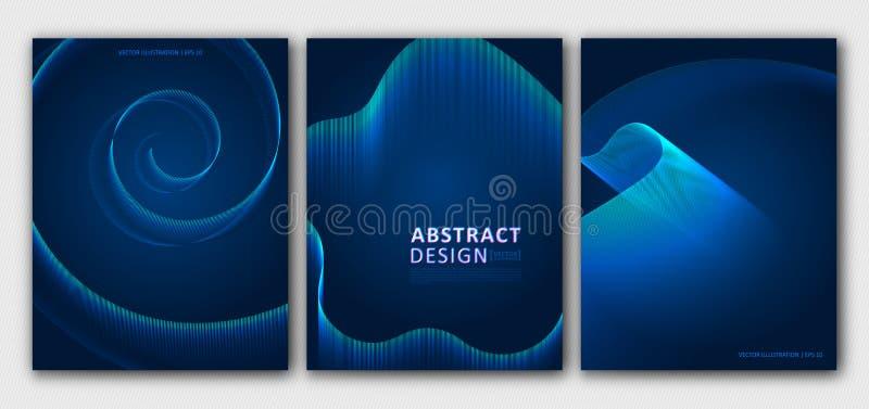 Disposiciones determinadas de los folletos, plantillas Fondo azul abstracto para el diseño de la cubierta, revista, aviador Model libre illustration