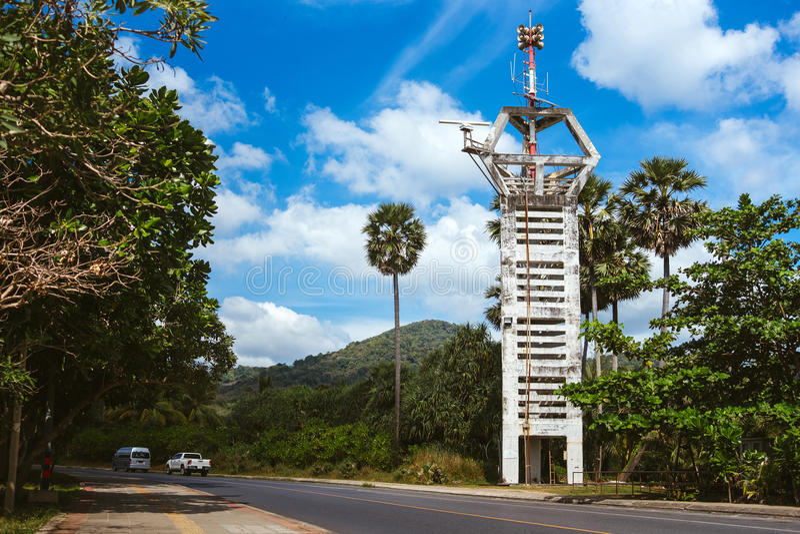 Dispositif d'alerte de tsunami photographie stock