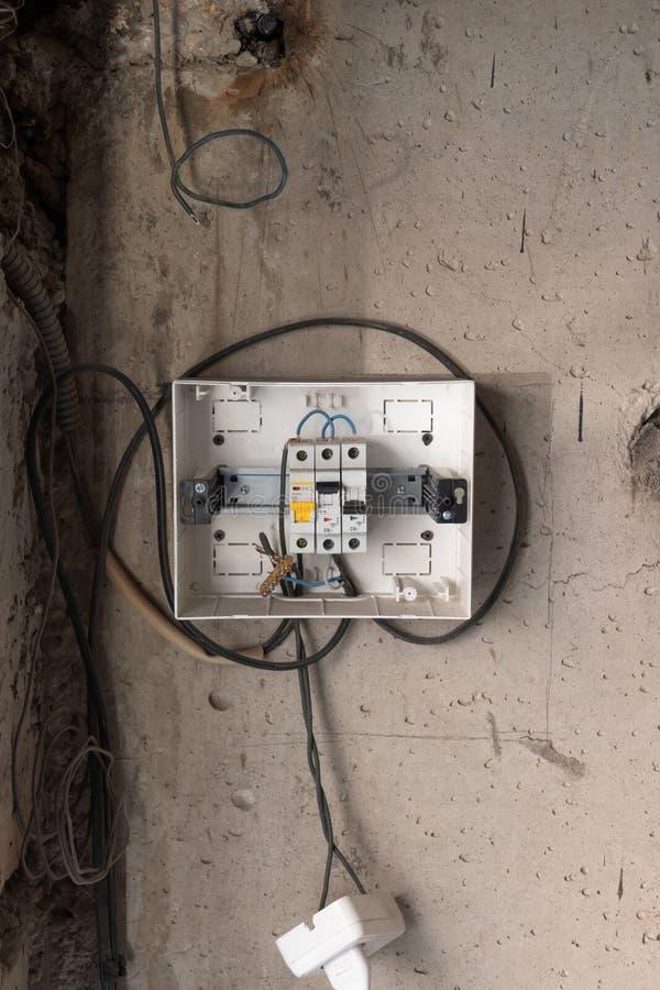 Dispositif d'arrêt protecteur Boîte de distribution d'énergie images libres de droits