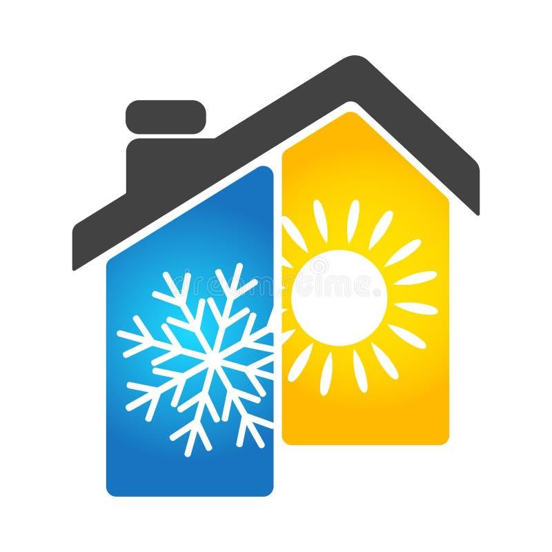 Dispositif de climatisation à la maison illustration de vecteur