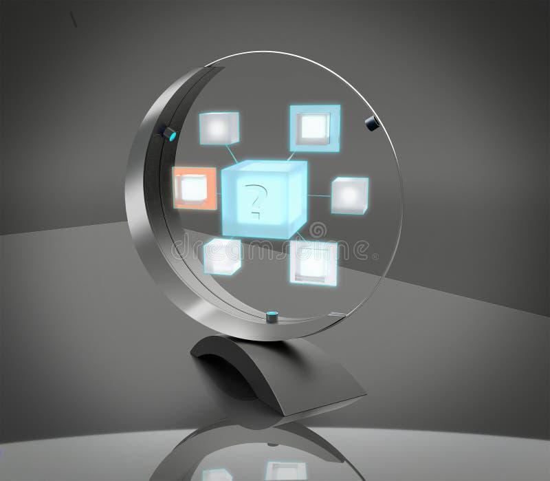 dispositif de l'intelligence 3D artificielle pour la communication image stock
